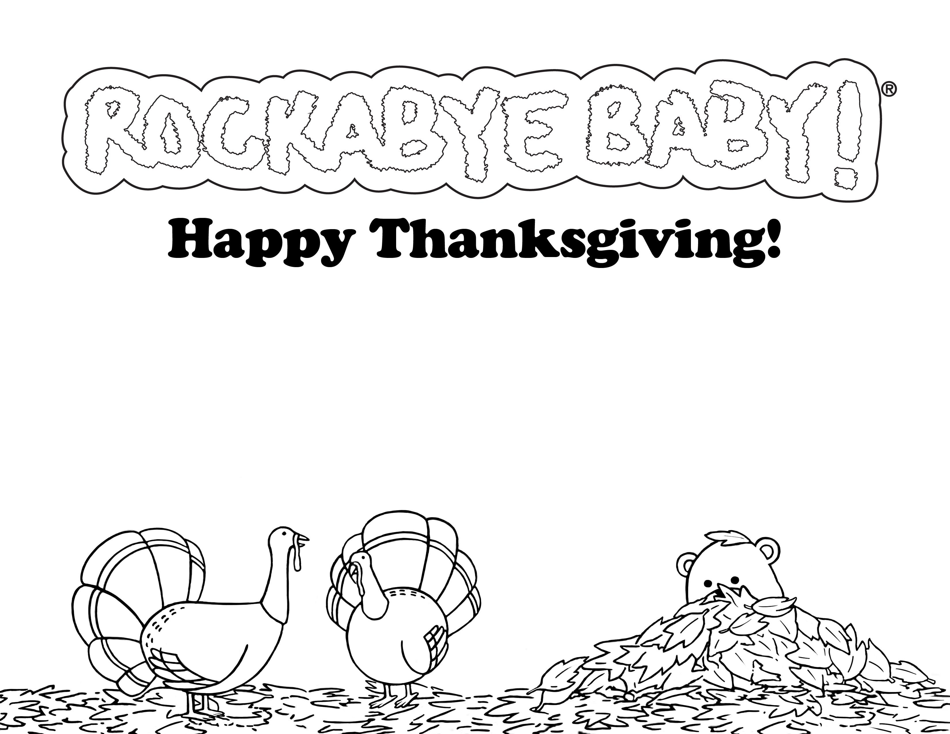 rockabye baby thanksgiving coloring pages