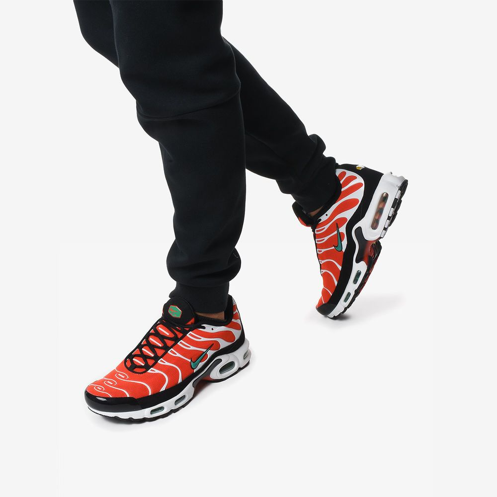 fa3fbde2f Nike Air Max Plus | Orange/Green/White/Black | Mens Trainers [852630 ...