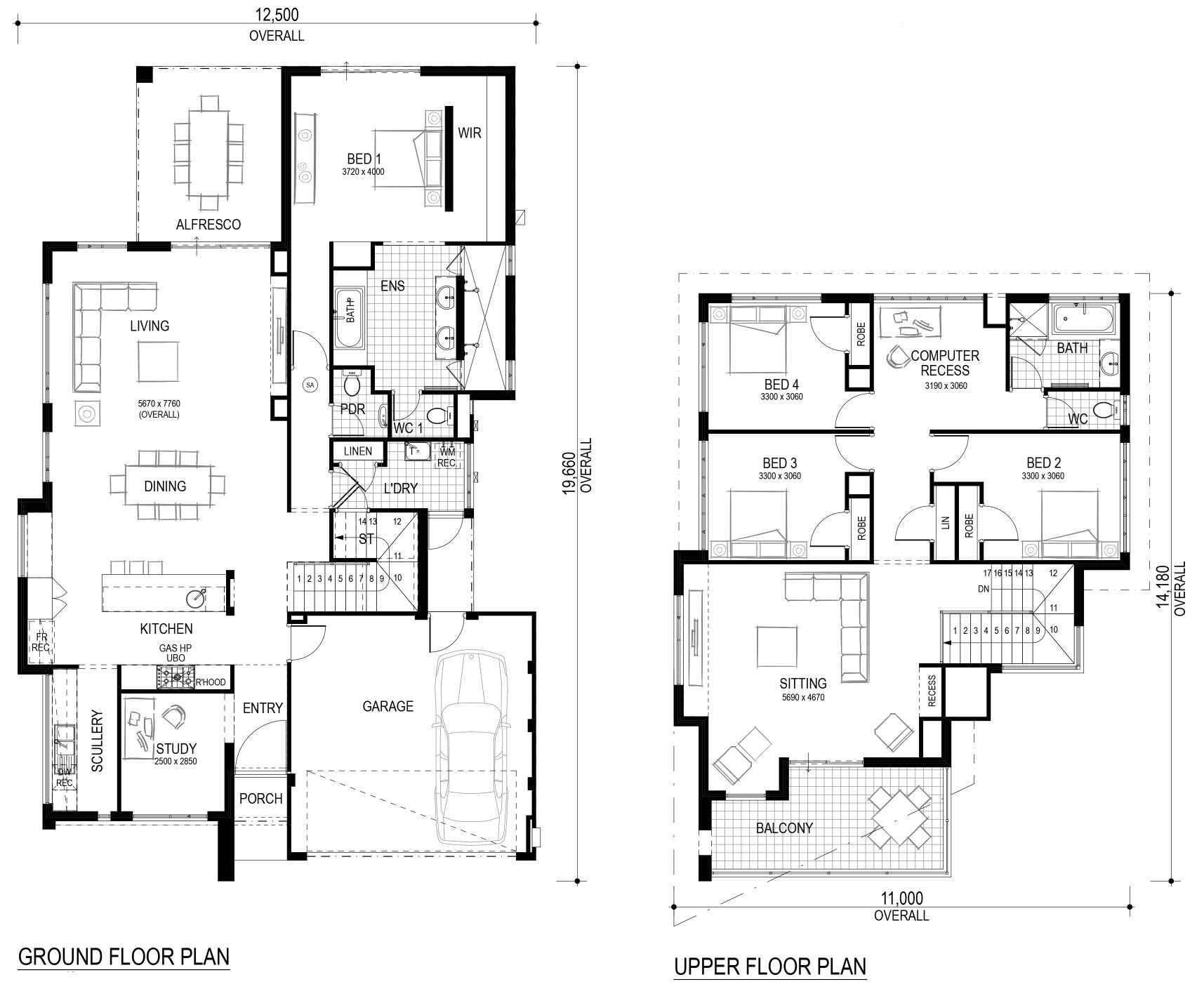 The Mariko By Perceptions Dimensions Are Wrong But The Master Shower House Plans Australia Two Storey House Plans House Blueprints