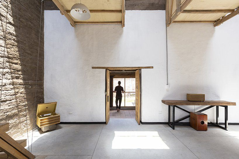 Al borde refurbishes an th century ruin in ecuador into family house with suspended beds designboom also rh pinterest