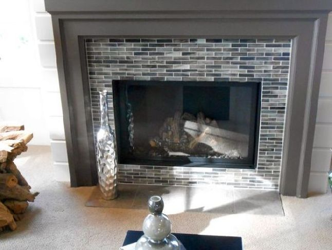 Backsplash Tile Around Fireplace Google Search Mosaic