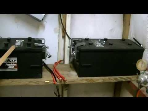 solar power battery wiring diagram kenwood kdc 138 how to connect panels bank charge controller inverter diagrams youtube