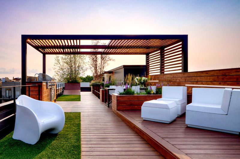 Rooftop Design Pleasing Gorgeous Rooftop Design With City Views Of Chicago  Rooftop . Decorating Design