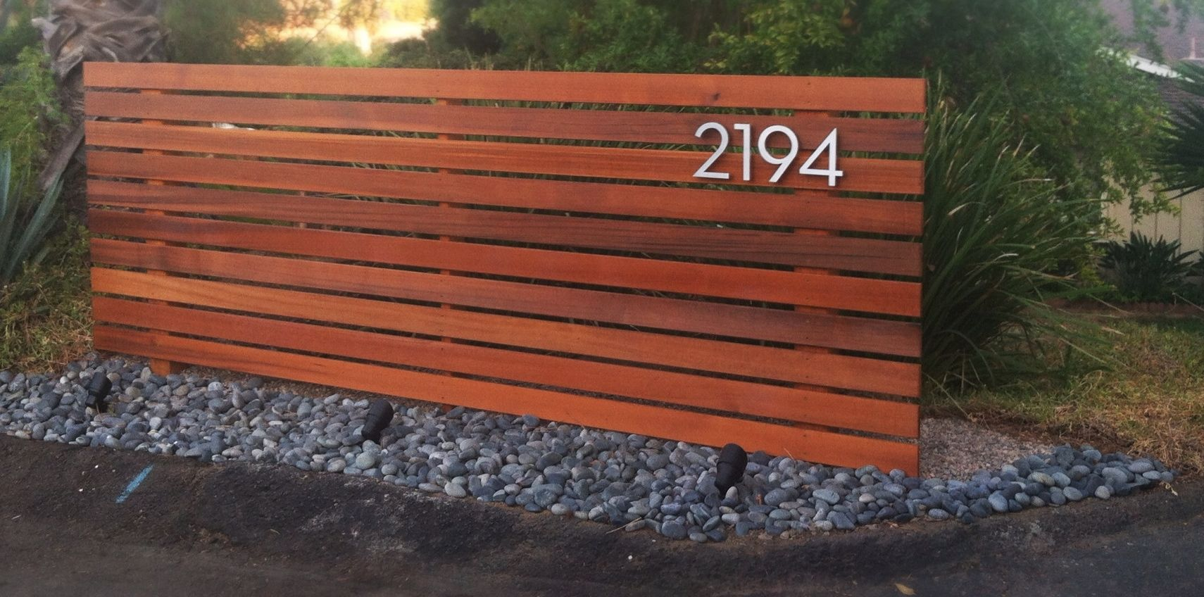Modern Horizontal Fence Wood Fence Front Yard Fence Design