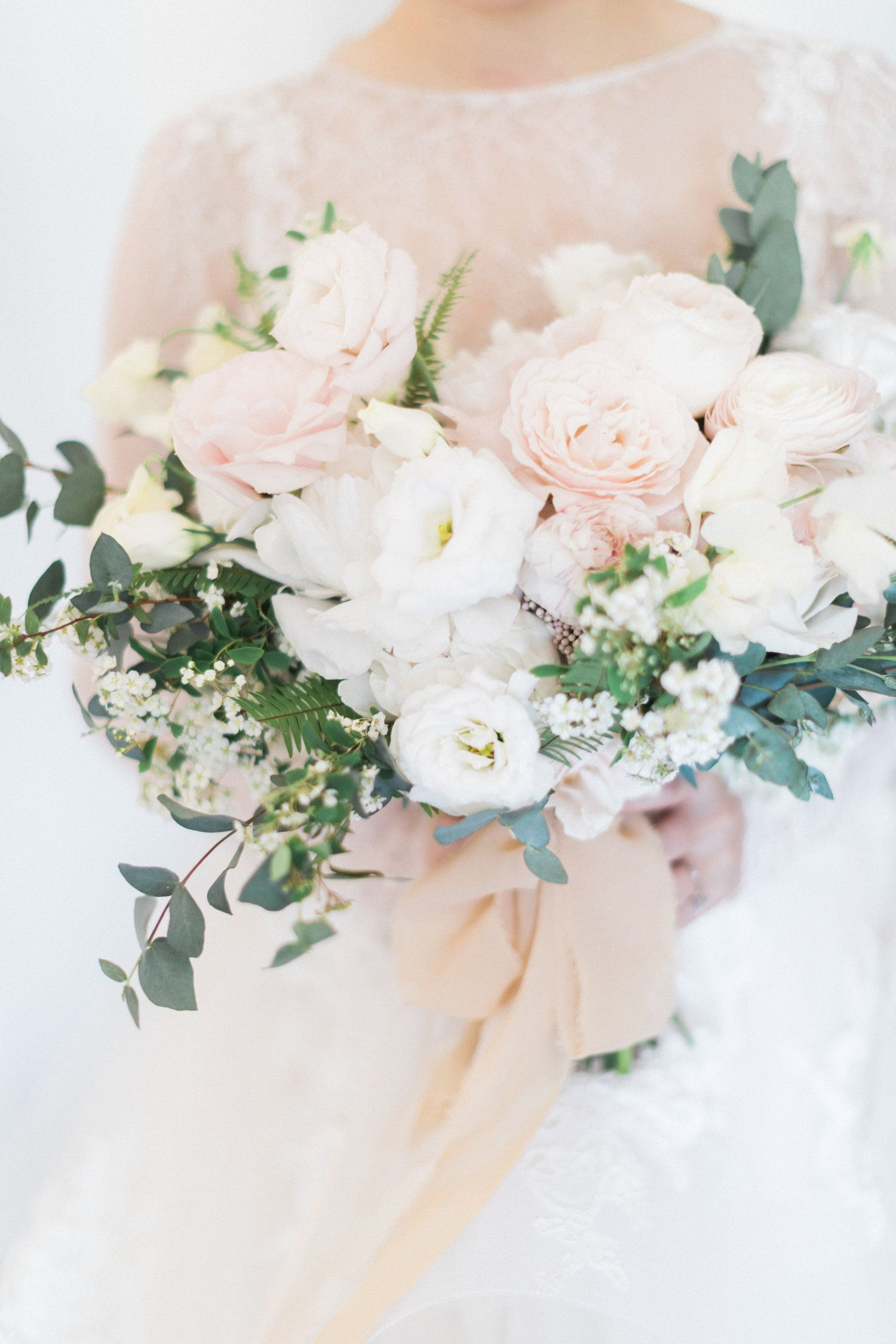 Bridal Bouquet By Designs By Ahn White Cream Blush Classic