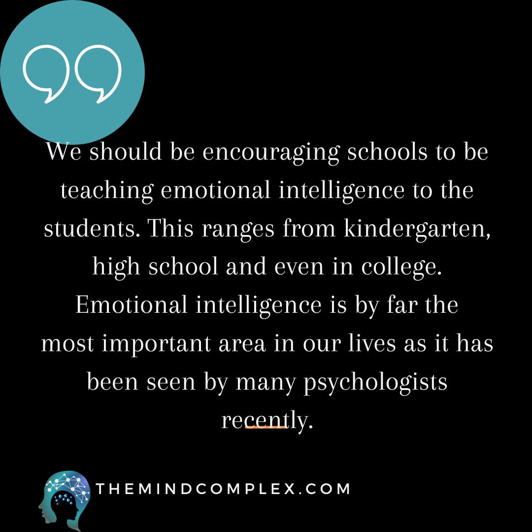 Schools Should Teach Emotional Intelligence In