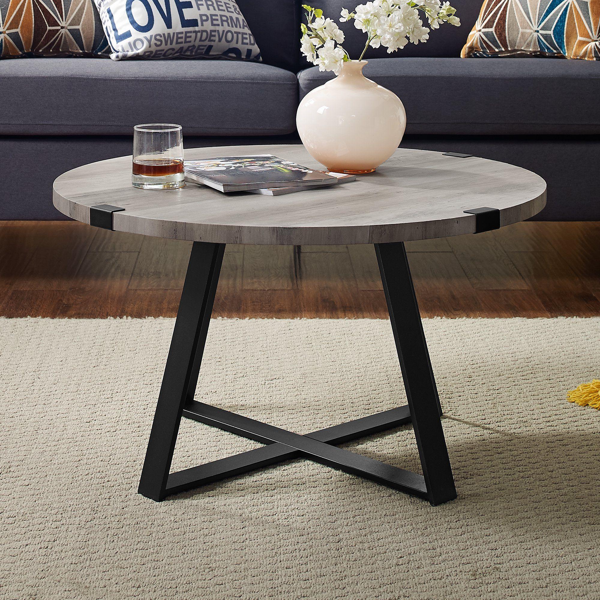 Slate Wrap Leg Dark Walnut Coffee Table By River Street Designs Walmart Com Coffee Table Grey Coffee Table Round Coffee Table [ 2000 x 2000 Pixel ]