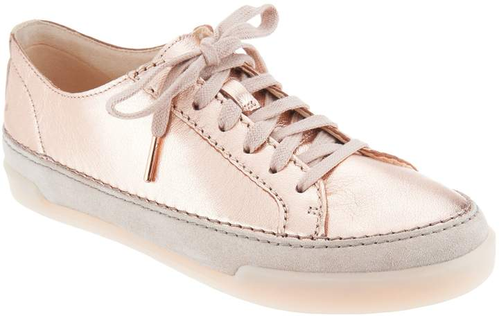 Clarks Artisan Leather Lace-Up Sneakers