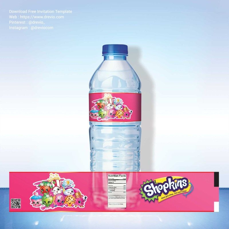 Awesome FREE Printable Shopkins Water Bottle Labels