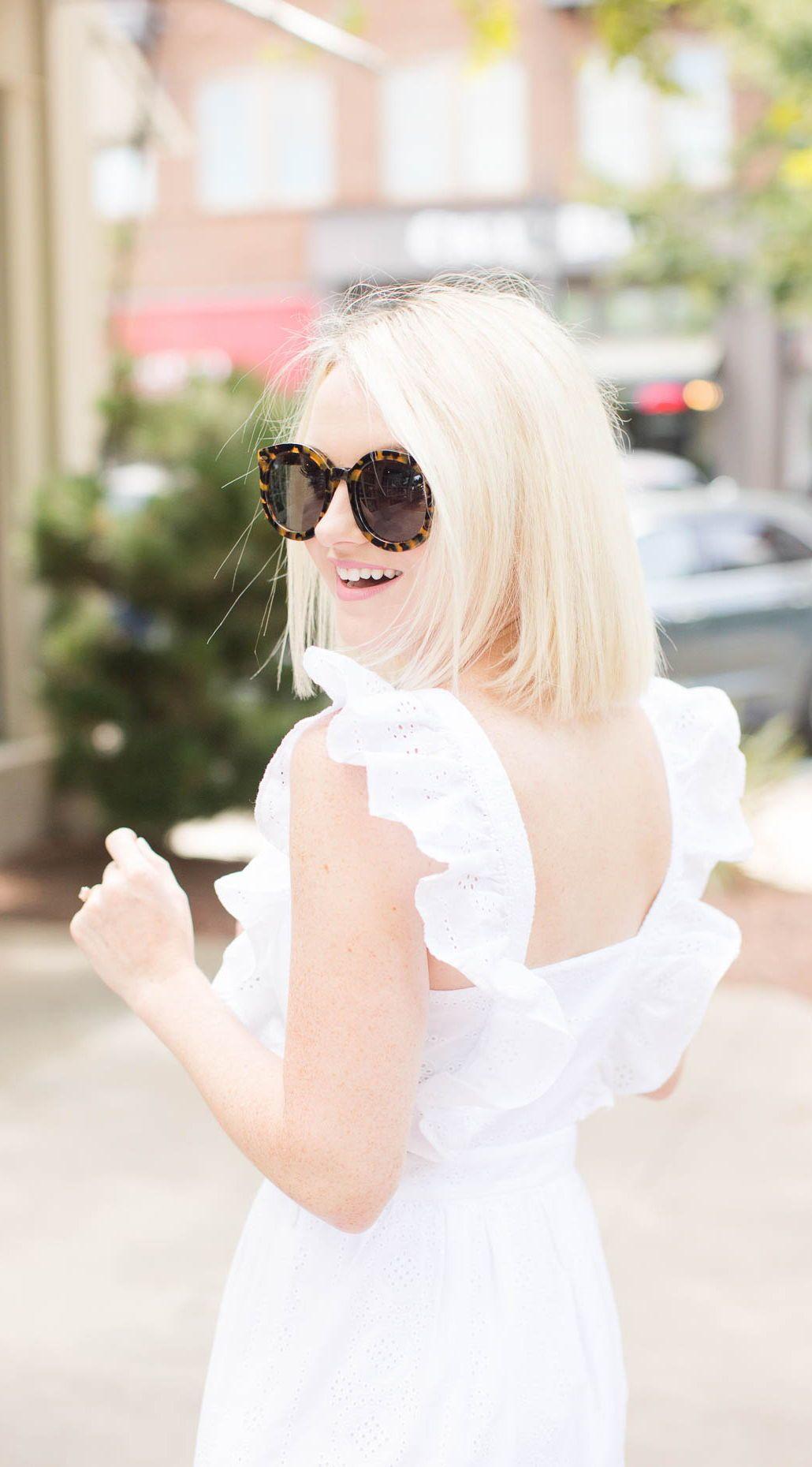 2c8c08755950f9 White Eyelet Dress For Summer - Madewell Dress - Poor Little It Girl   poorlittleitgirl  petitestyle