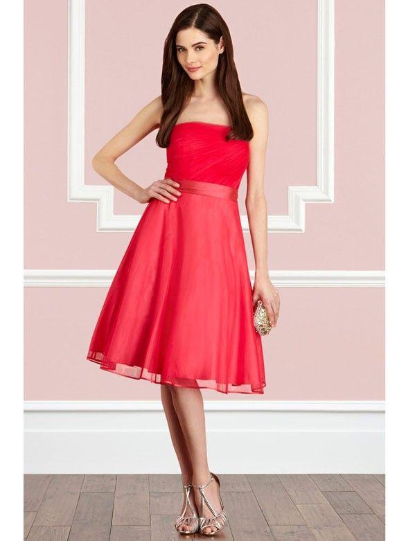 Kleid korall rot