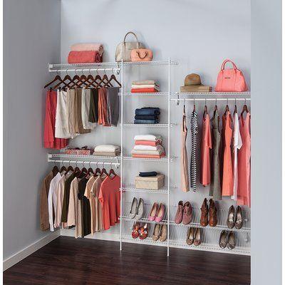 Lovely Closetmaid 244cm Clothes Storage System | Wayfair.co.uk
