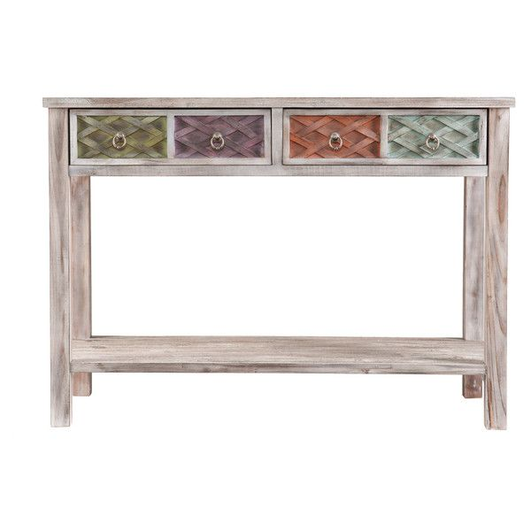 Upton Home Lafond Console/ Sofa Table (330 CAD) ❤ liked on Polyvore featuring home, furniture, tables, accent tables, drawer shelves, drawer shelf, storage shelf, slim console table and shelf furniture