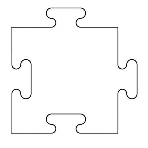 "puzzle piece template printable free   BTP401 - ""ByThePiece"" 1-4"" Puzzle Piece - Bare Books"