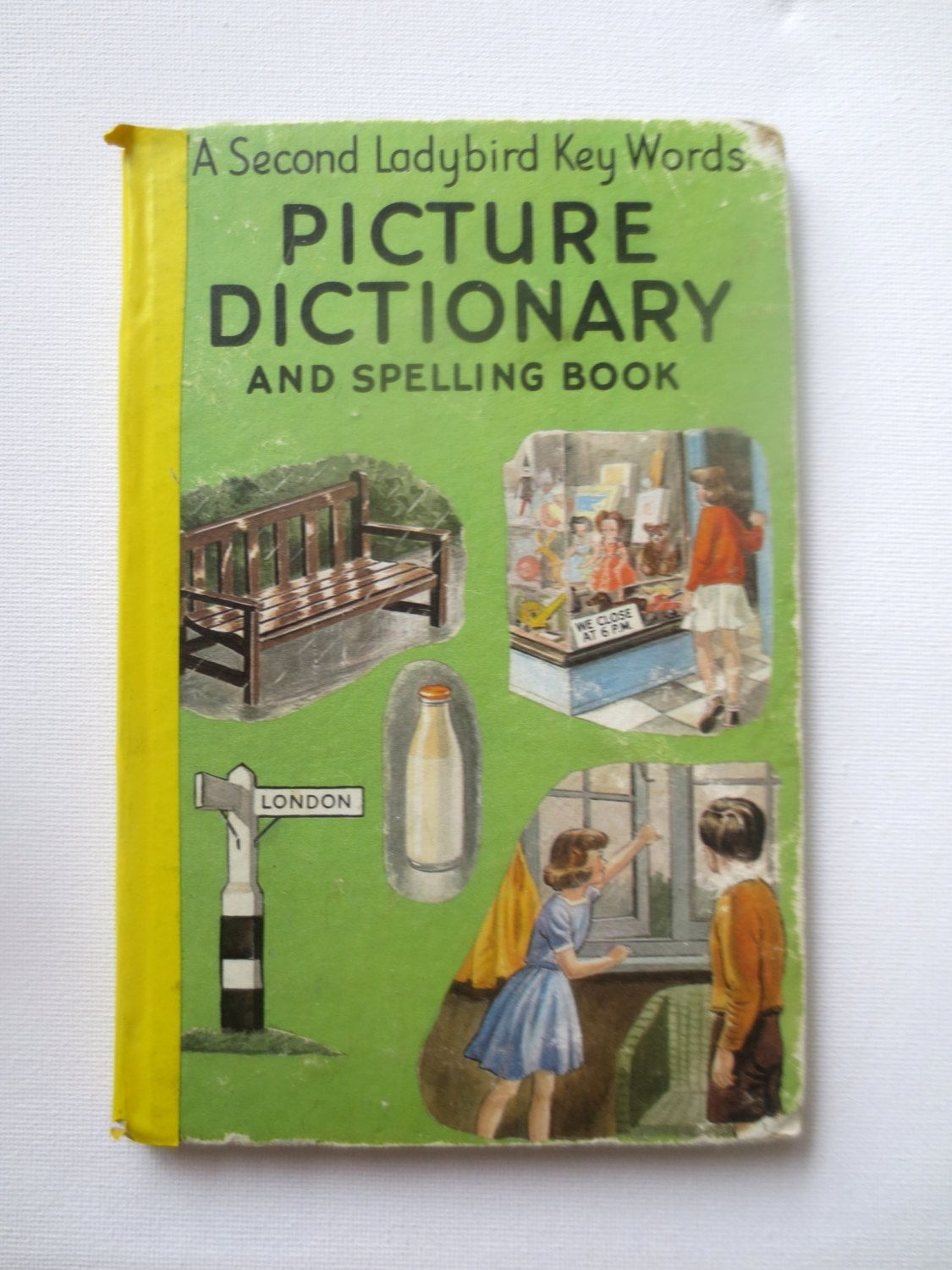 A Second Ladybird Key Words Picture Dictionary and Spelling Book (1966) by J. McNally - Vintage Children's Word Book