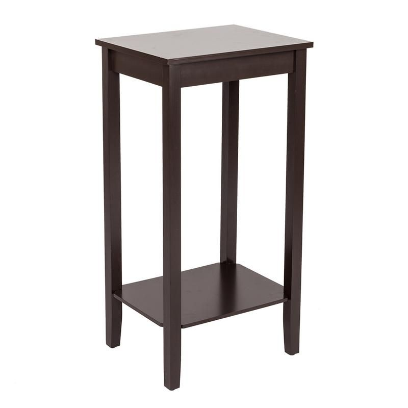 Simple Two Story Bedside Table Side Coffee Table High Foot Style