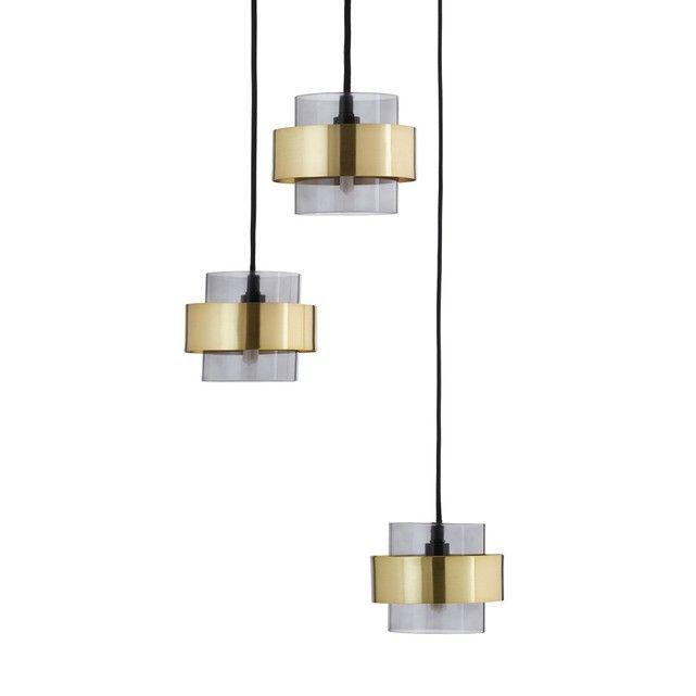 Hanglamp Met 3 Lampenkappen Botellohanglamp Met 3 Lampenkappen Botello Een Mooie Combinatie Van Transparanti Plafondverlichting Hanglamp Verlichtingsarmaturen
