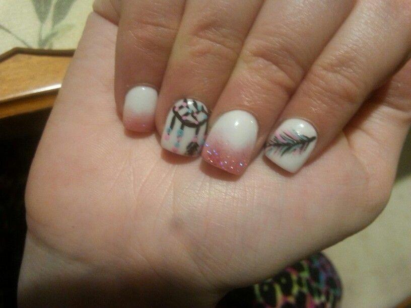My dream catcher nails that I loveeee♥♥♥