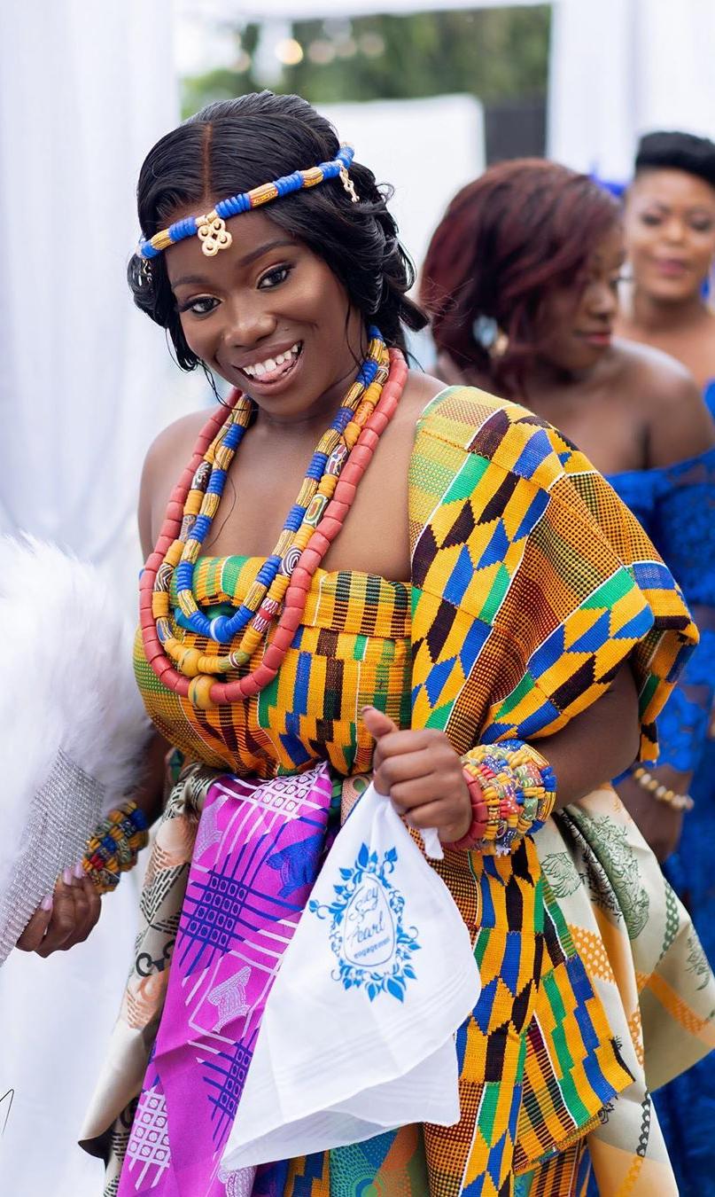 Ghana Traditional Wedding Dress Ghana Traditional Wedding African Print Fashion Dresses African Fashion Dresses