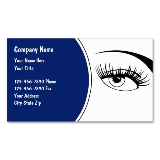Optometry Business Cards  Eye Doctor Business Cards