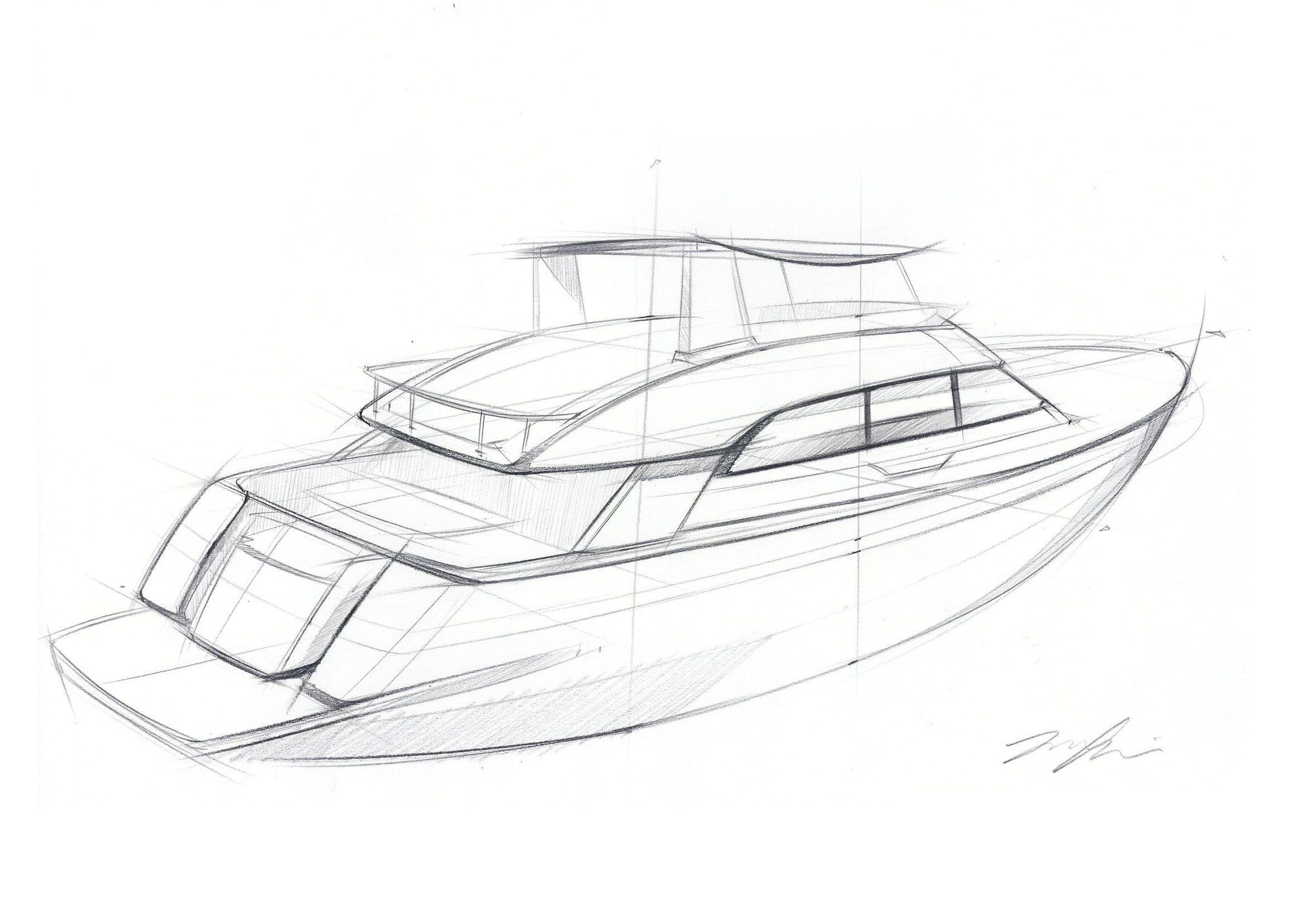 Yacht Sketch Ulasim Tasarimi Tekne Cizim Cizimler