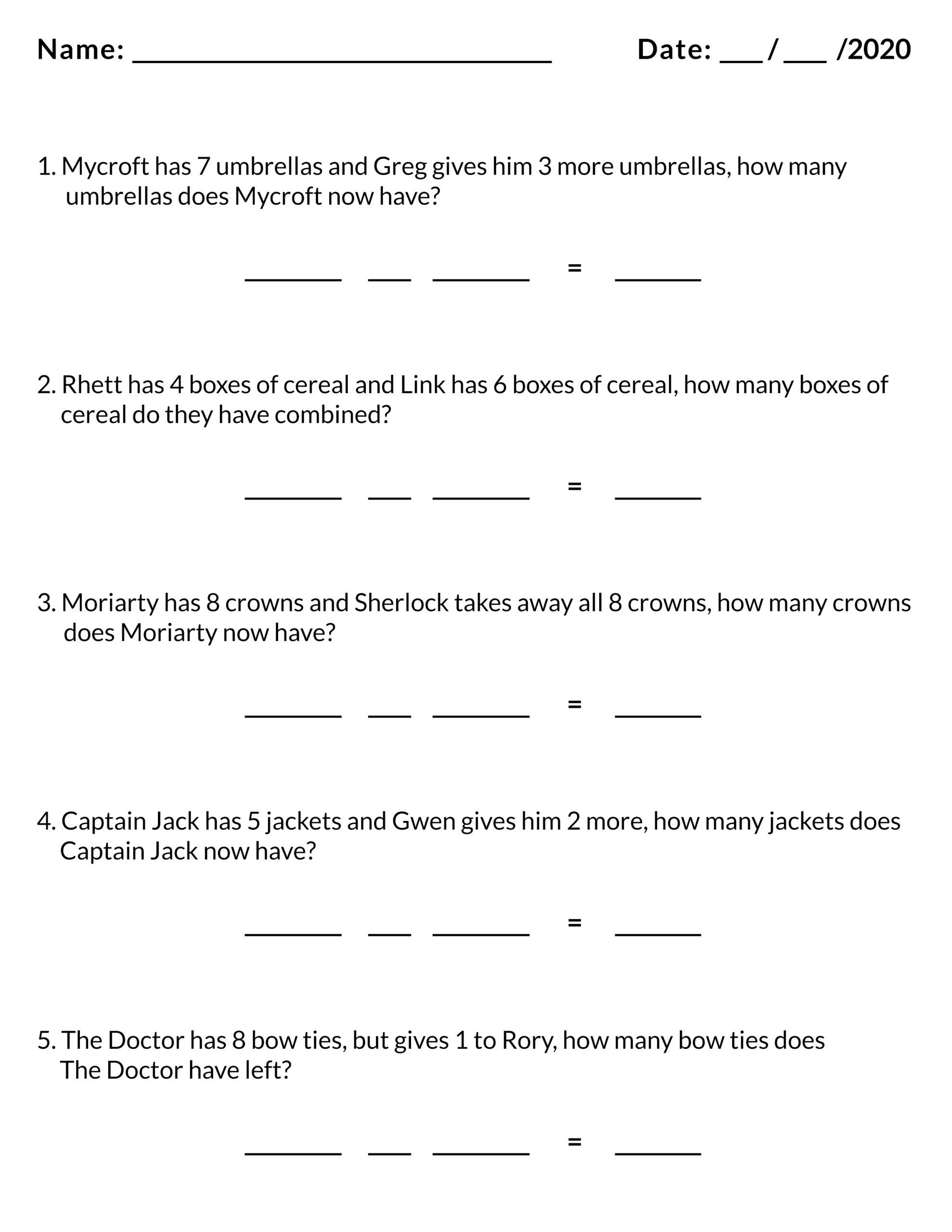 Frandom Math Worksheet In