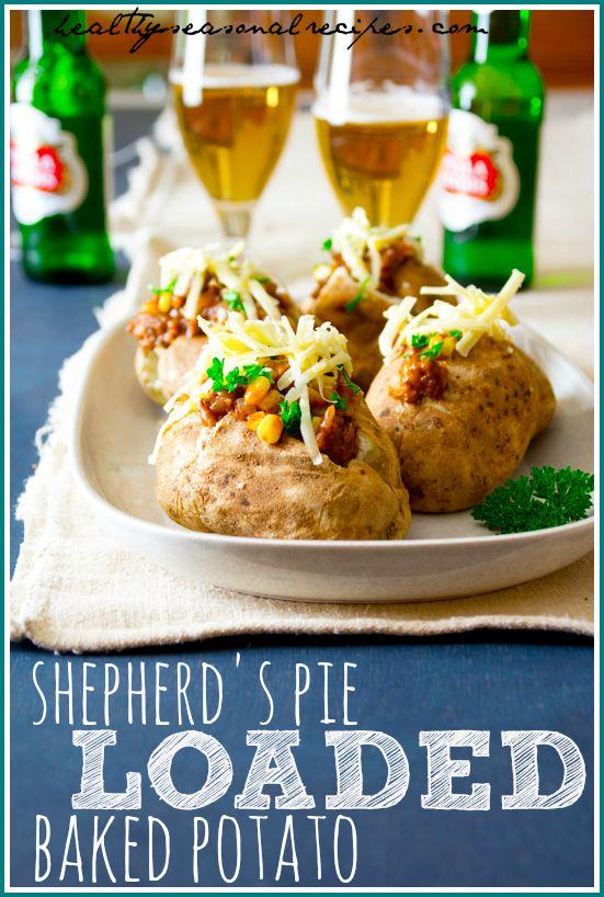 Shepherd S Pie Loaded Baked Potatoes Recipe Loaded Baked Potatoes Shepherds Pie Recipes