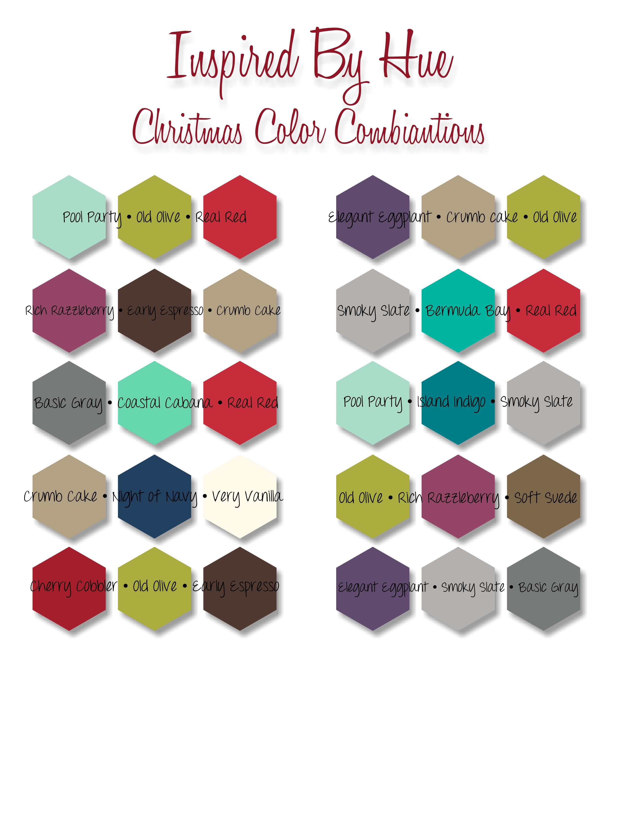 Christmas Color Combinations | Color inspiration, Christmas cards ...
