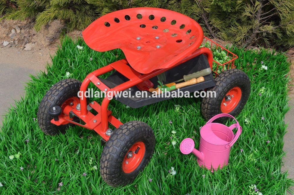 Work Seat Tool Tray Garden Stool On Wheels, View Garden Stool On Wheels,  Product