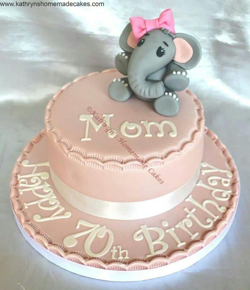 Novelty Cake Birthday Cute Elephant