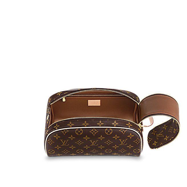 661a0037463 Louis Vuitton Gris -. Trousse de toilette King Size Toile Monogram Femme  Voyage