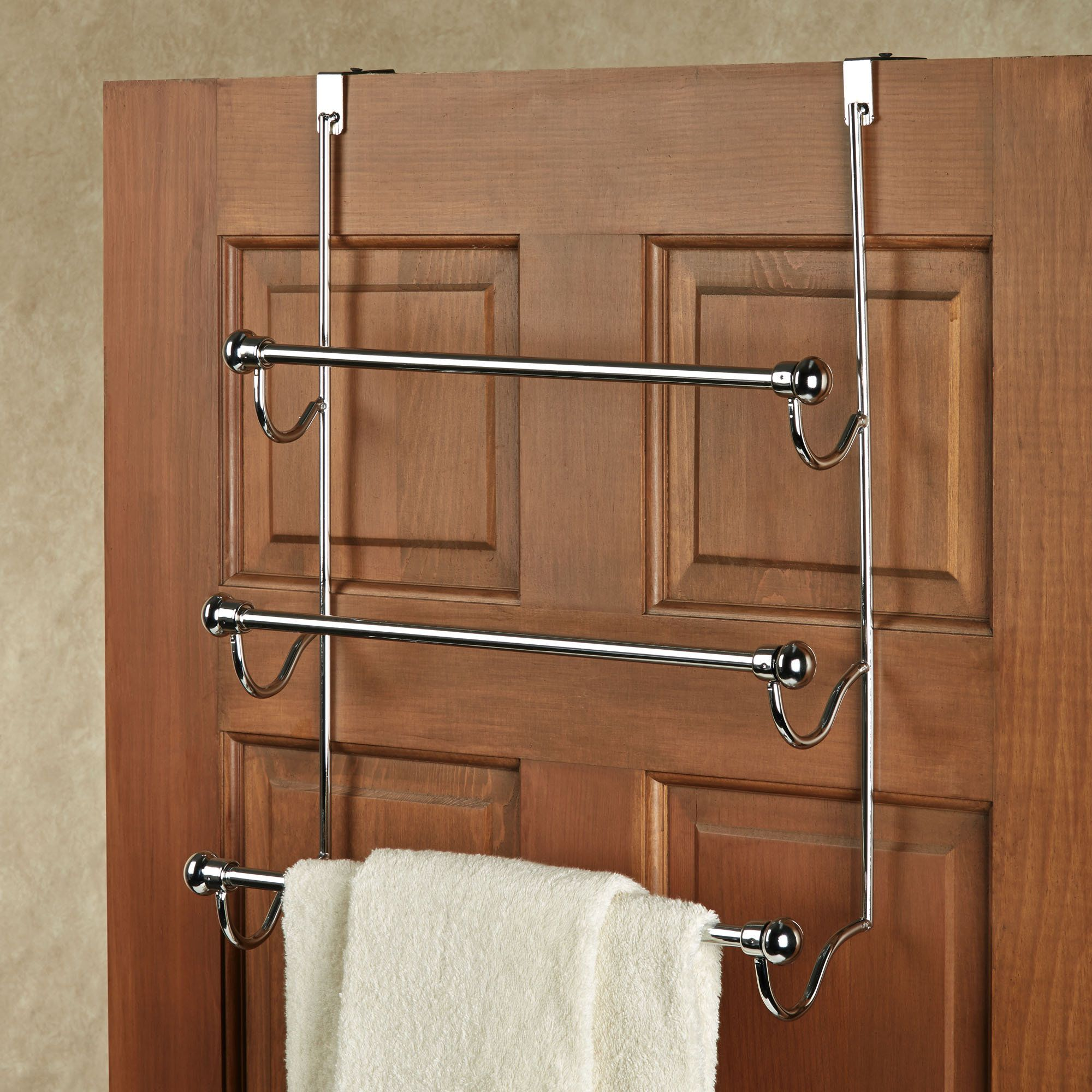 Over The Door Chrome Towel Rack Bath Towel Racks Towel