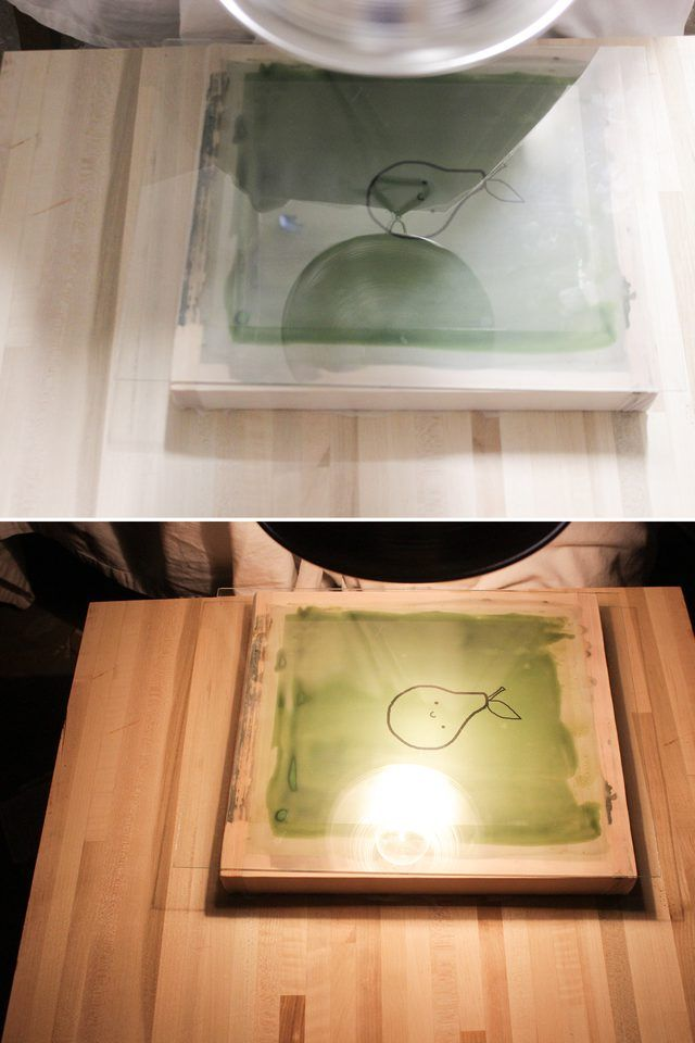 Learn how to build a screen for screen printing, and the entire process for photo emulsion, including tips on filling in the design with color.