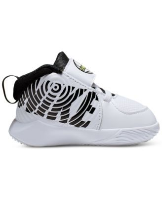 Nike Toddler Boys Team Hustle D 9 Stay-Put Basketball Sneakers from Finish Line & Reviews - Finish Line Athletic Shoes - Kids - Macy's #sportclothes
