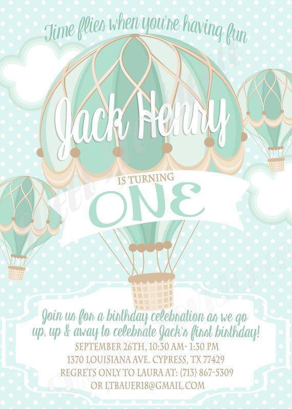 hot air balloons invitation free