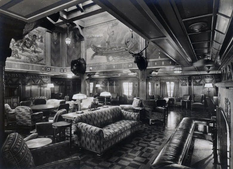 Ocean liner smoking room Vintage retro Pinterest Smoking room - copy blueprint design arklow