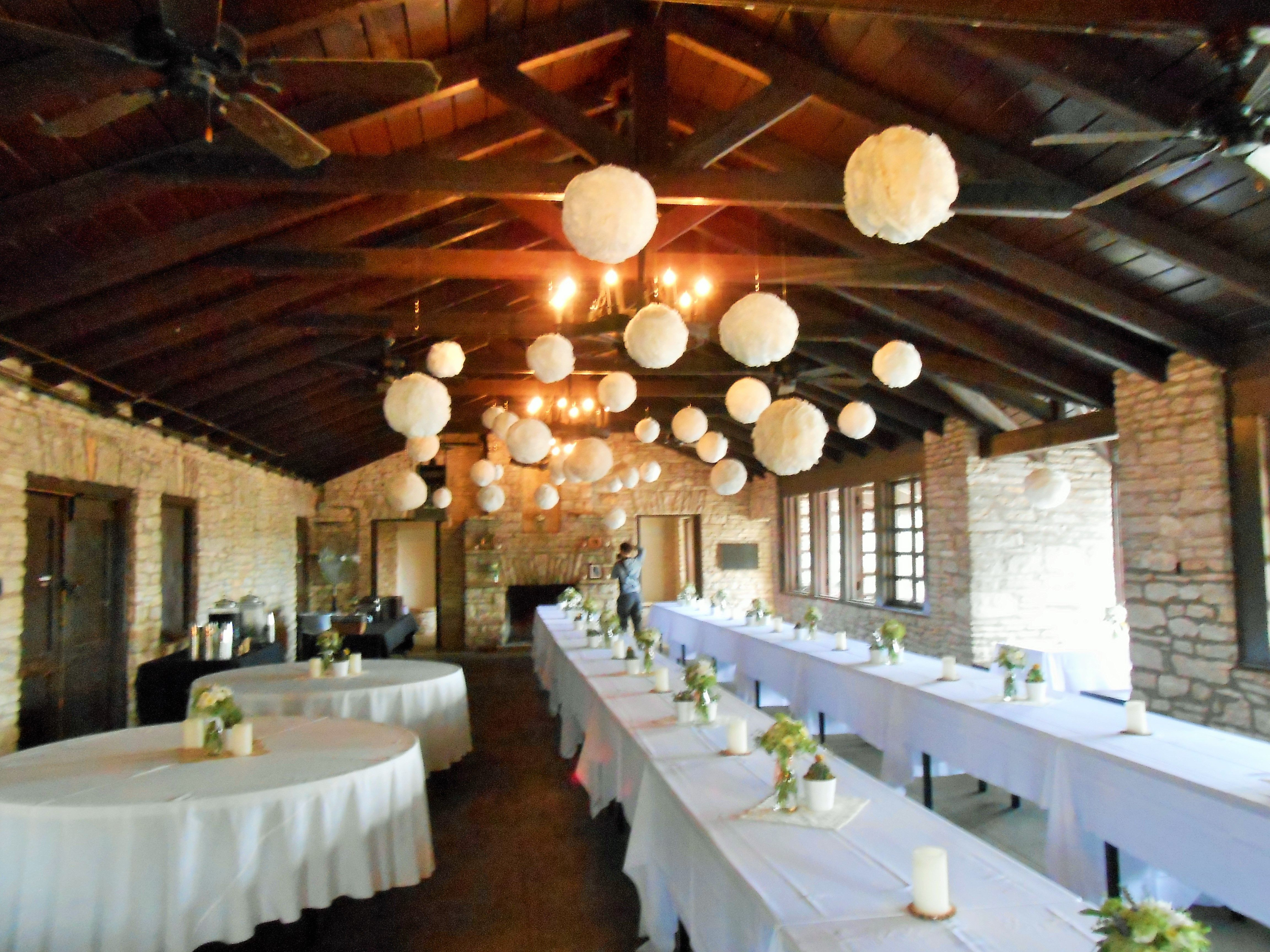Wedding Reception At Zilker Clubhouse Anniversary Decorations