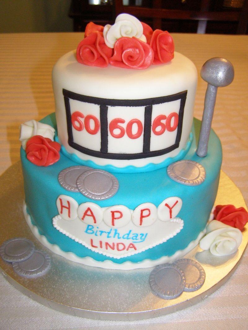 60th Birthday Cakes 60th Birthday Slot Machine Cakes By Tammi