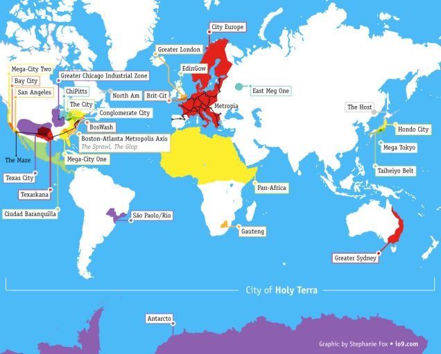Heres A Map That Shows All The Future Megacities From Science
