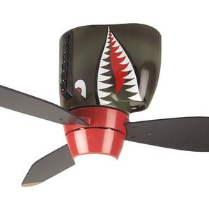 P 40 Wwii Tiger Shark Warplane Ceiling Fan Hugger