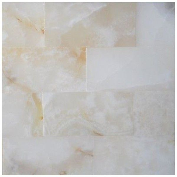 3x6 Pearl White Onyx Subway Brick Polis
