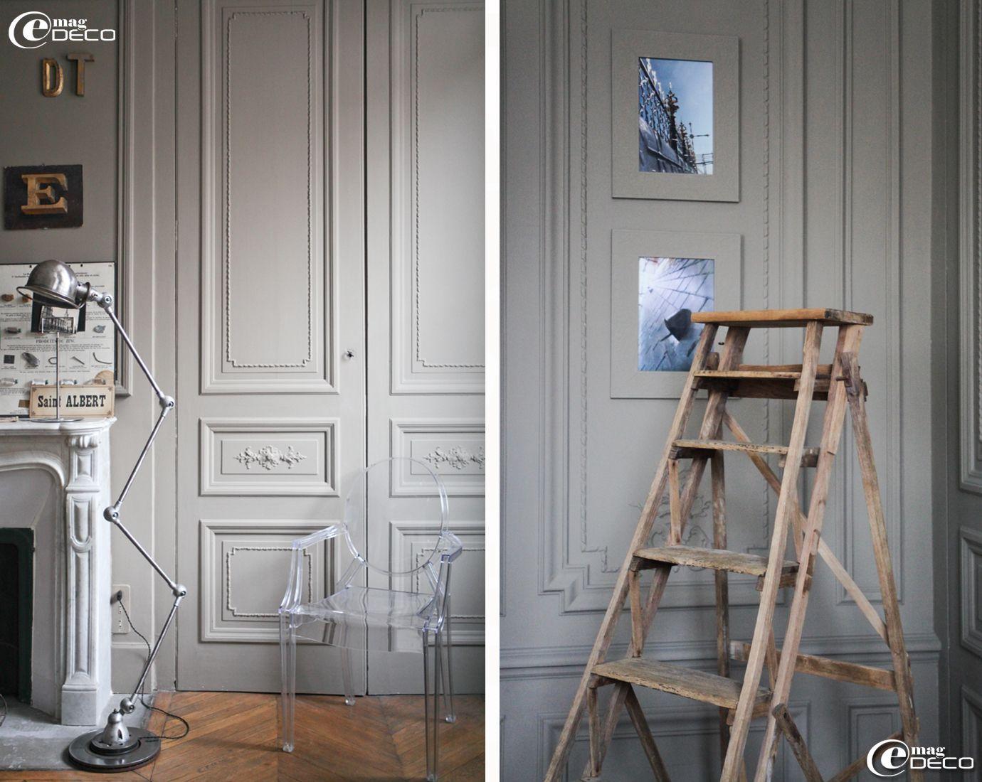 Lampe Jield Chaise Louis Ghost Et Escabeau Quipe Un Bureau Tr S