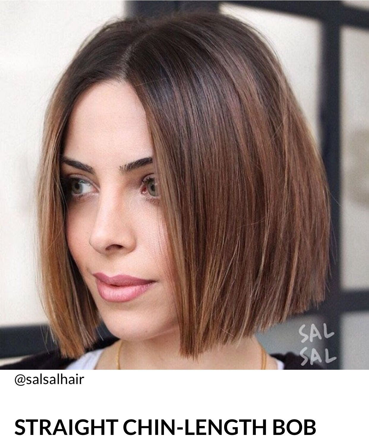 brown highlights, bob, one legnth | one length hair styles