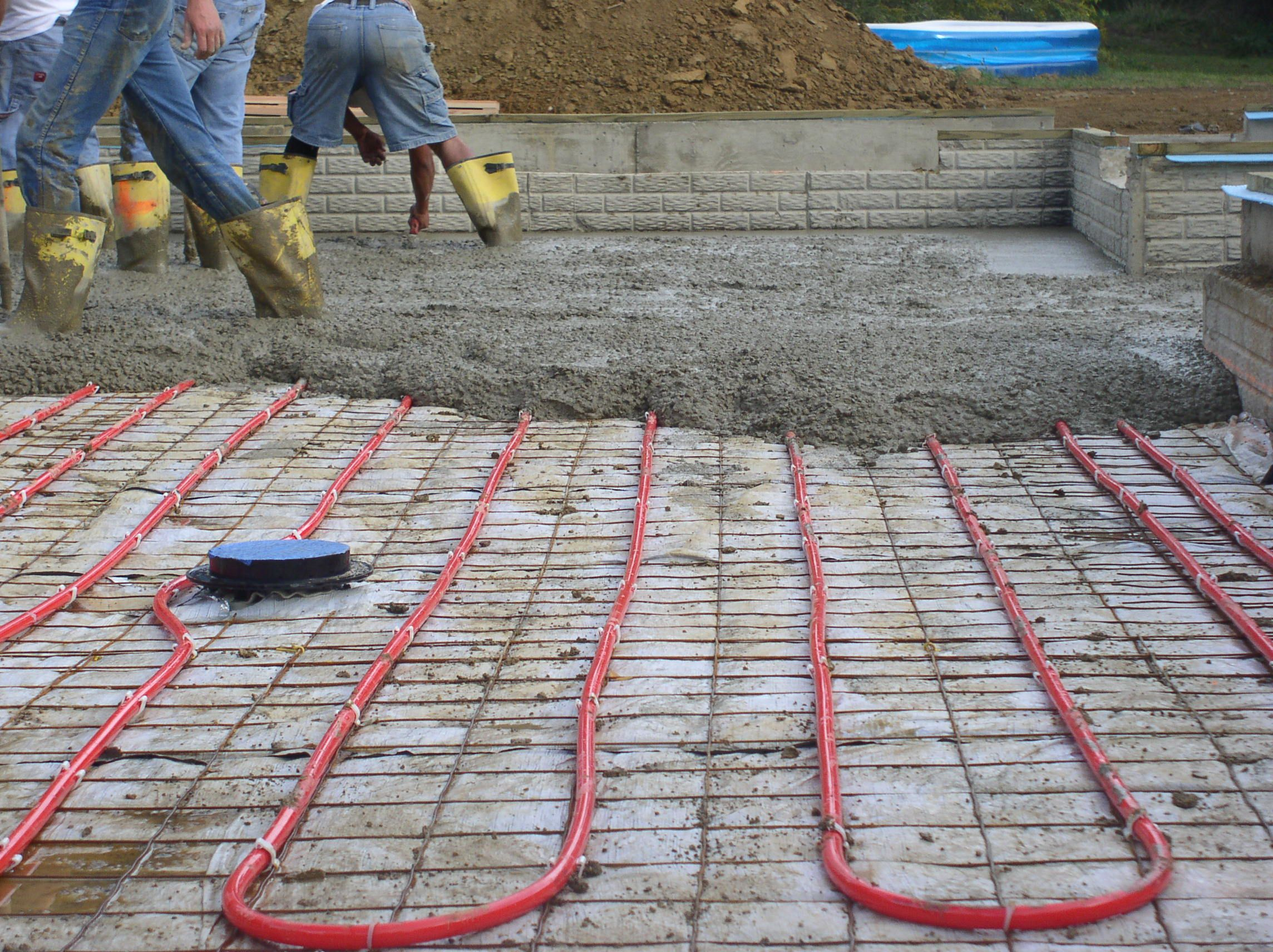 Insul Tarp Insulation Used In A Radiant Heat Application Slab Insulation Insulation Pex Plumbing