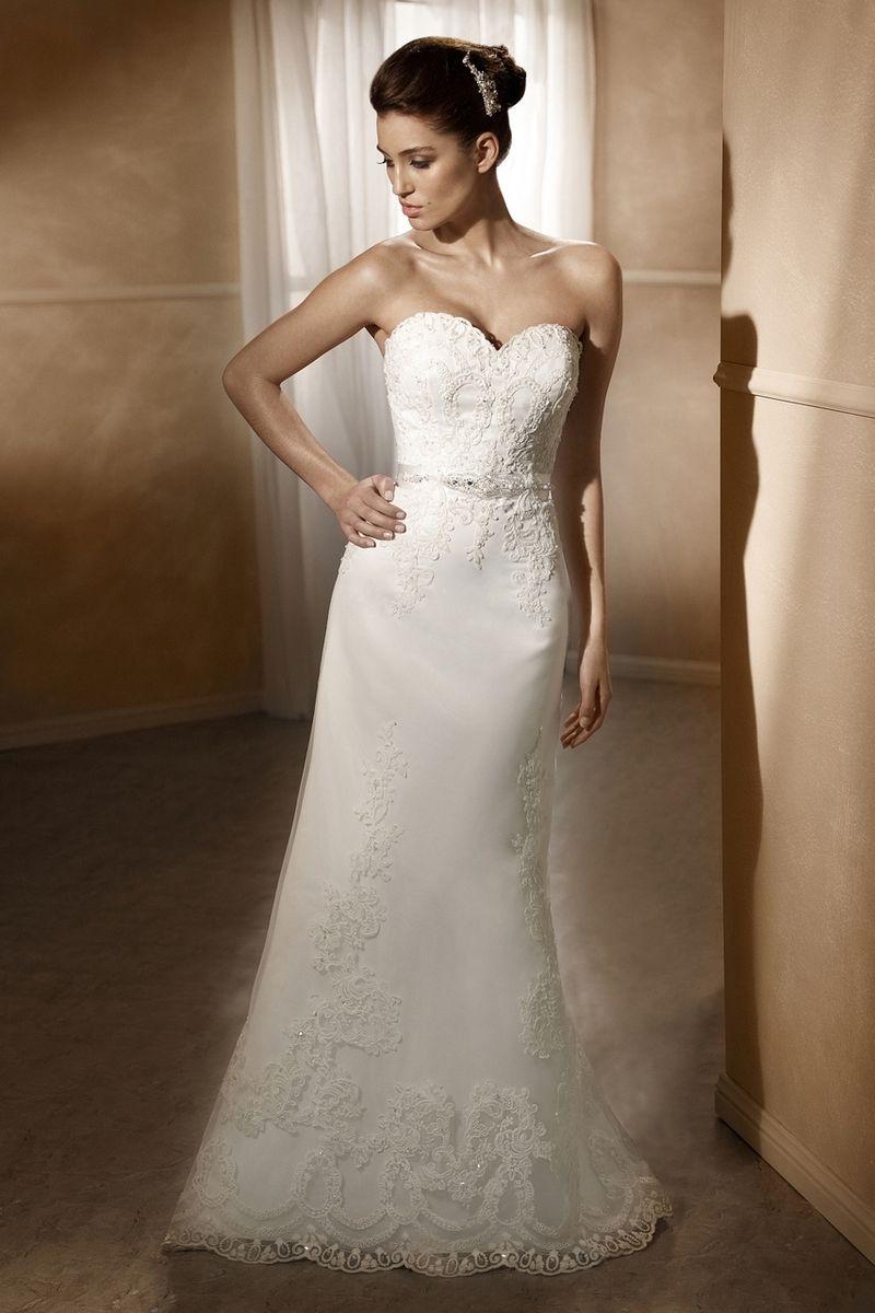 Mia Solano Satin Slim A Line Wedding Dress M1236z Http