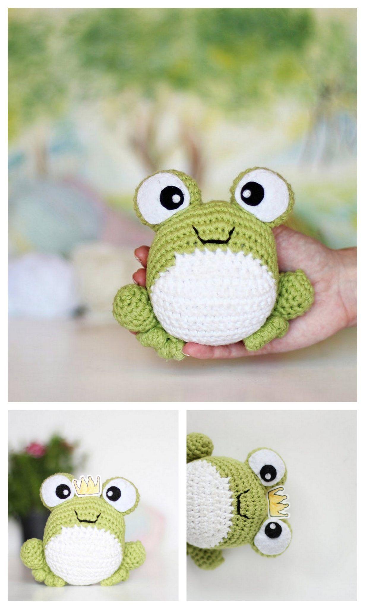 crochet frog step by step frog pdf crochet pattern frog amigurumi pattern Harry the frog prince crochet pattern frog crochet tutorial