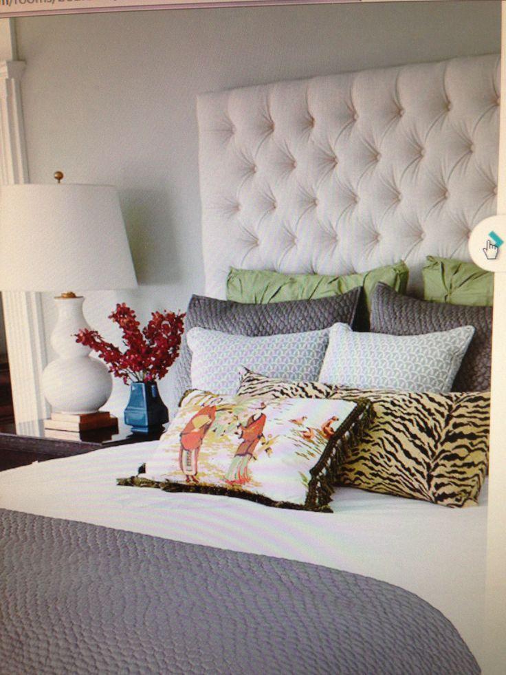 Beautiful Headboards Home decor, Fabric headboard