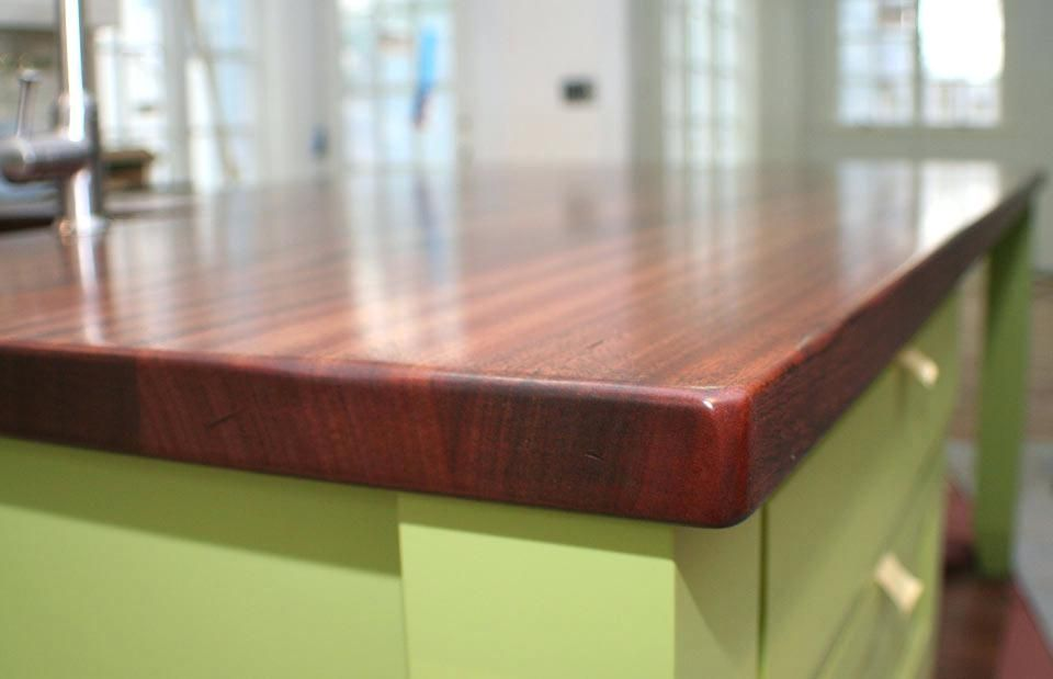 Countertop Thickness Mahogany Wood Counter 1 3 4 Inches Thick Corian