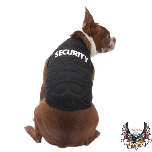 Security Muscle Tank Dog Costume Bouncer Pet Halloween Shirt X