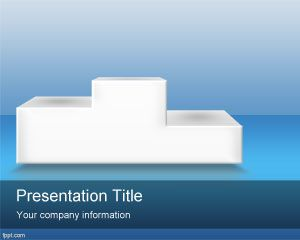 winner podium powerpoint template is a free business template, Presentation templates